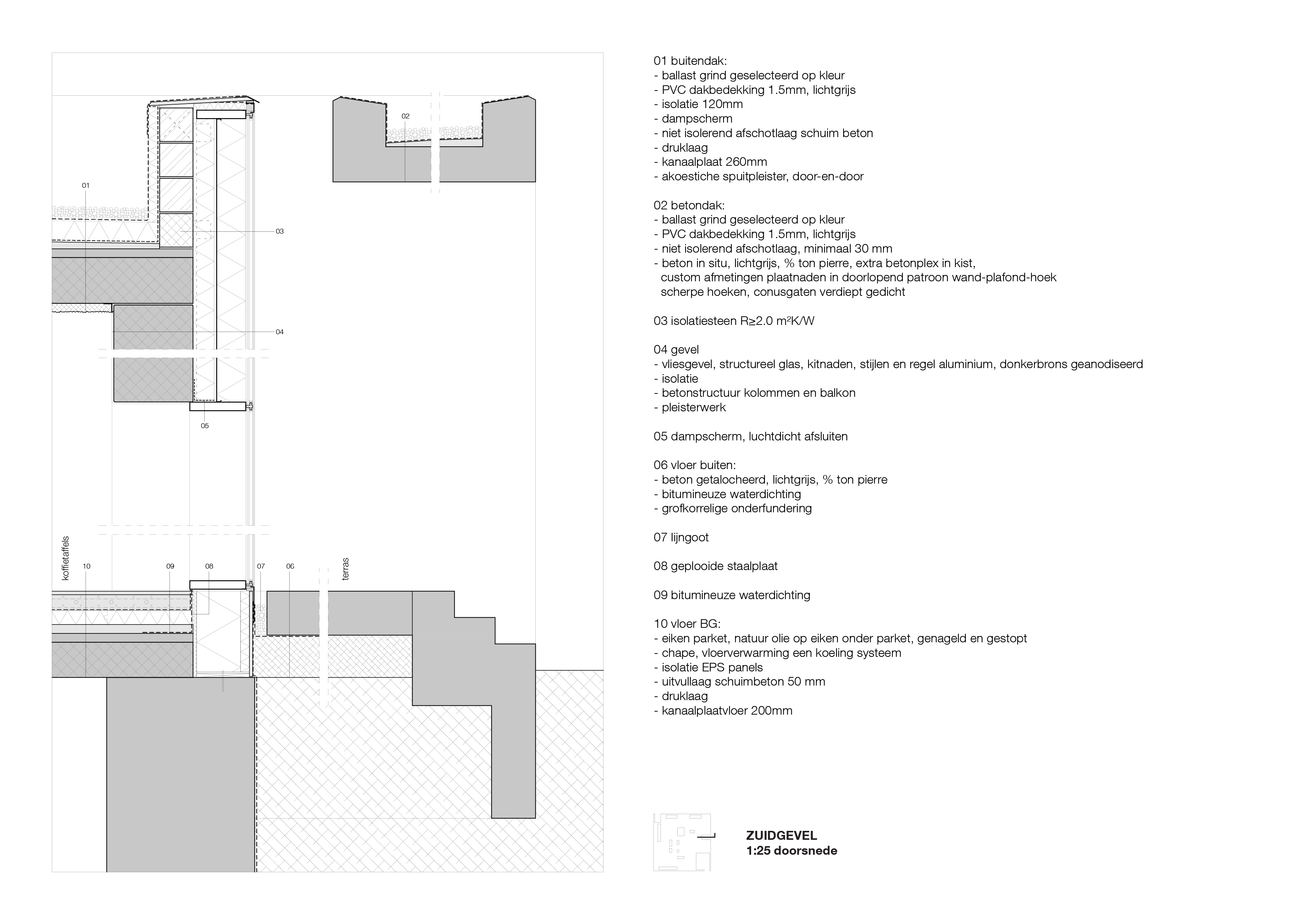 <p>Detail café Crematorium Siesegem in Aalst door KAAN Architecten</p>