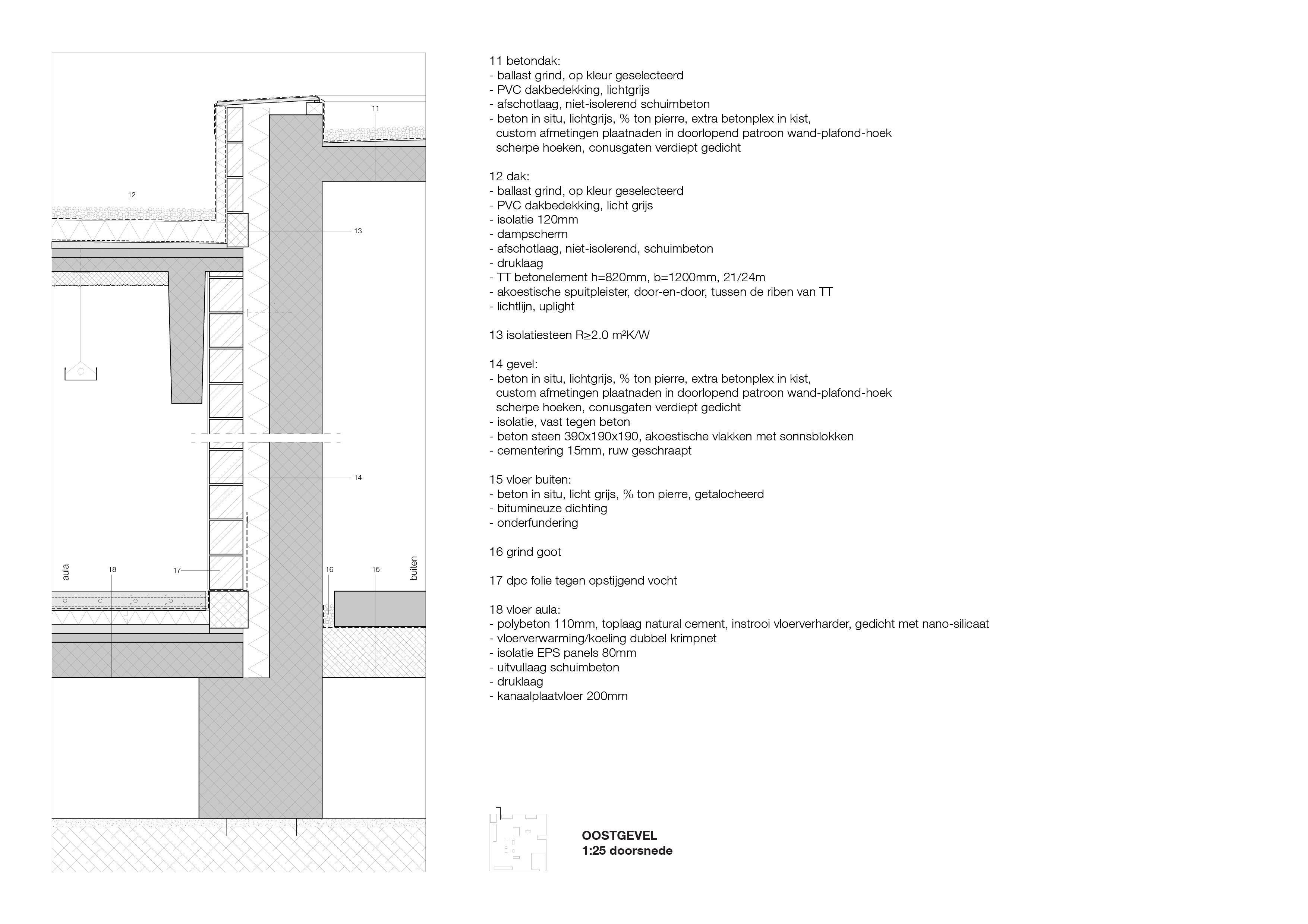 <p>Detail ceremoniezaal Crematorium Siesegem in Aalst door KAAN Architecten</p>