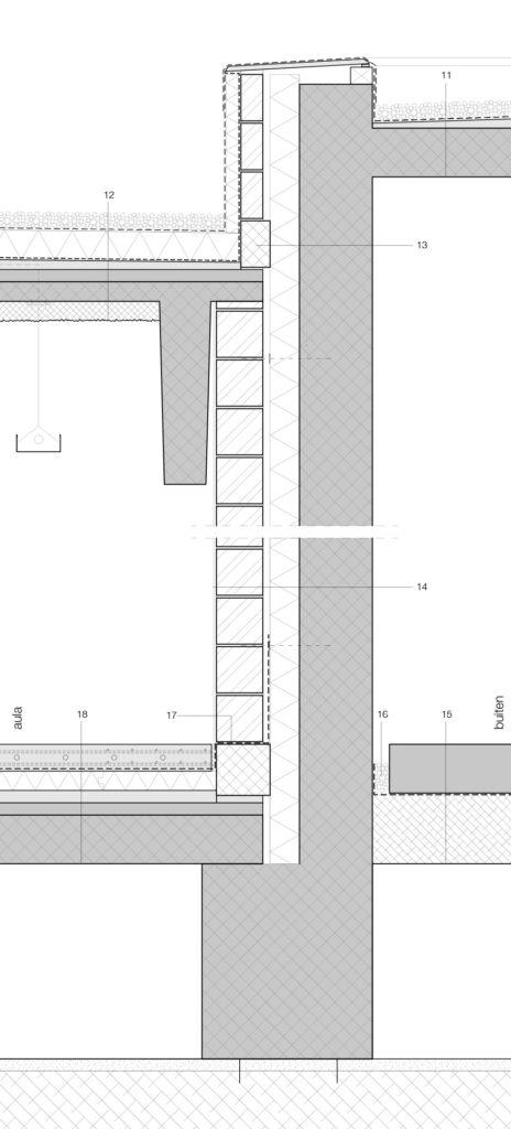 Detail ceremoniezaal Crematorium Siesegem in Aalst door KAAN Architecten