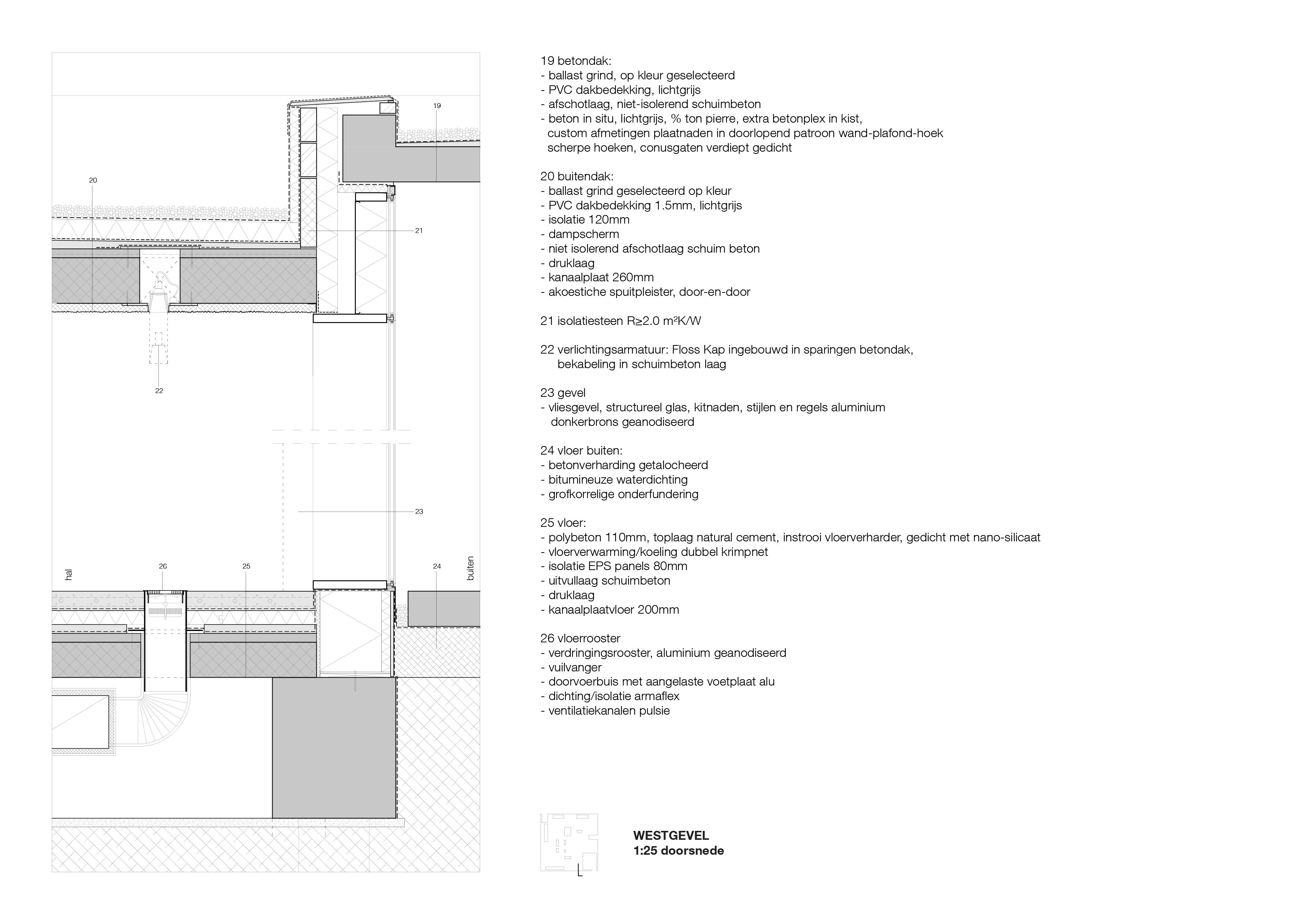 <p>Detail ontvangsthal Crematorium Siesegem in Aalst door KAAN Architecten</p>