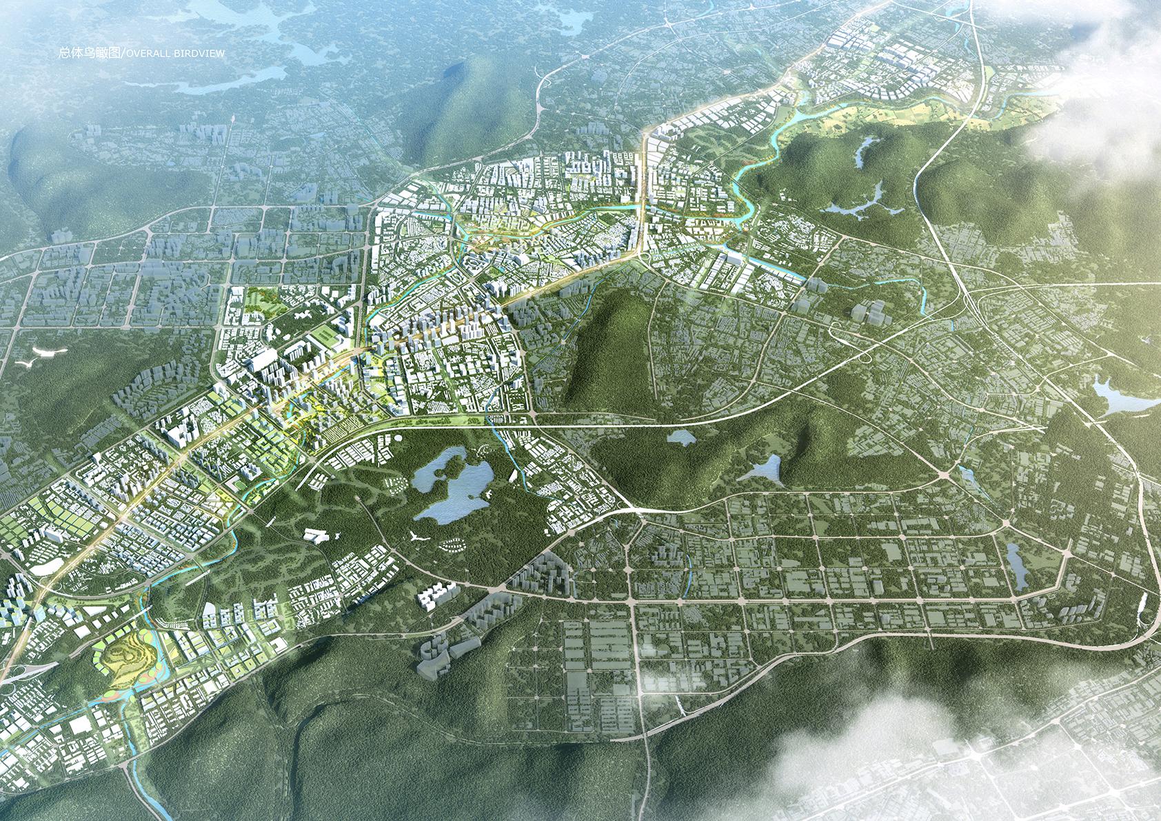 <p>Masterplan Longgang Riverfront Shenzhen in China door KCAP en CAUPD, beeld KCAP+CAUPD</p>