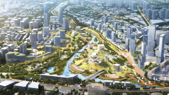 KCAP en CAUPD winnen prijsvraag Longgang Riverfront Shenzhen in China