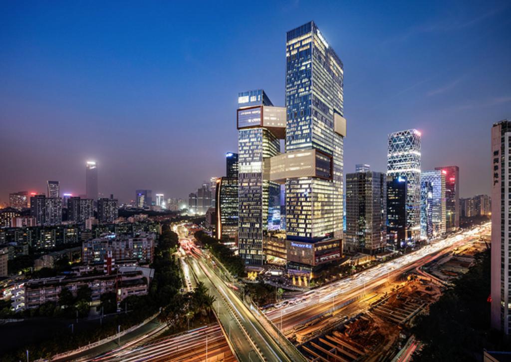Tencent Seafront Towers in Shenzen door NBBJ. Beeld NBBJ / Tim Griffith