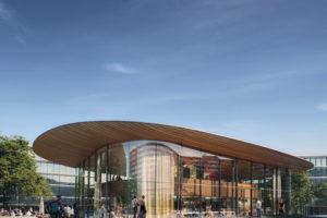 Paviljoen voor nieuwe ING-campus Amsterdam