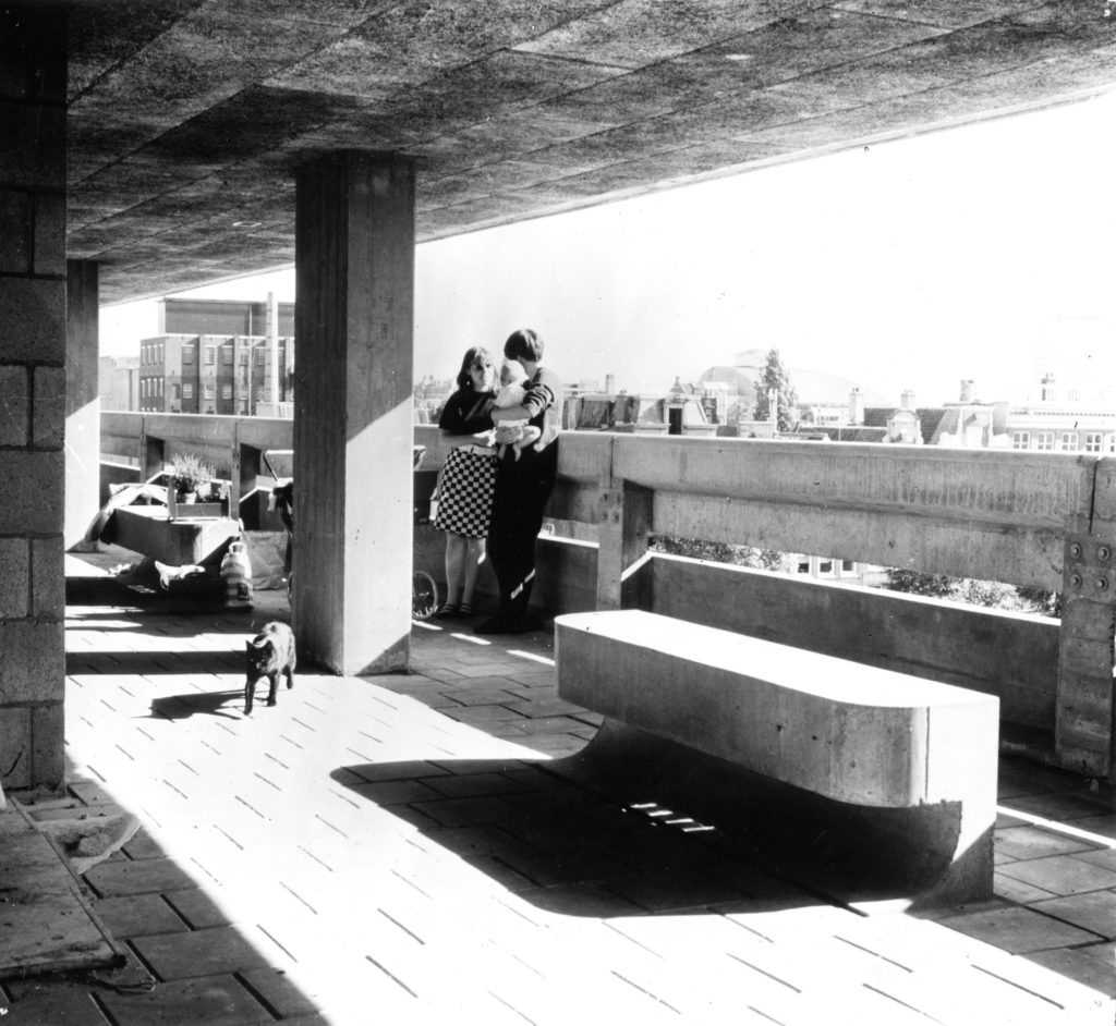 Studentenhuis Weesperstraat Amsterdam 1959-1966. Herman Herzberger, Tjakko Hazewinkel en Henk Dicke. Beeld: Herman Hertzberger