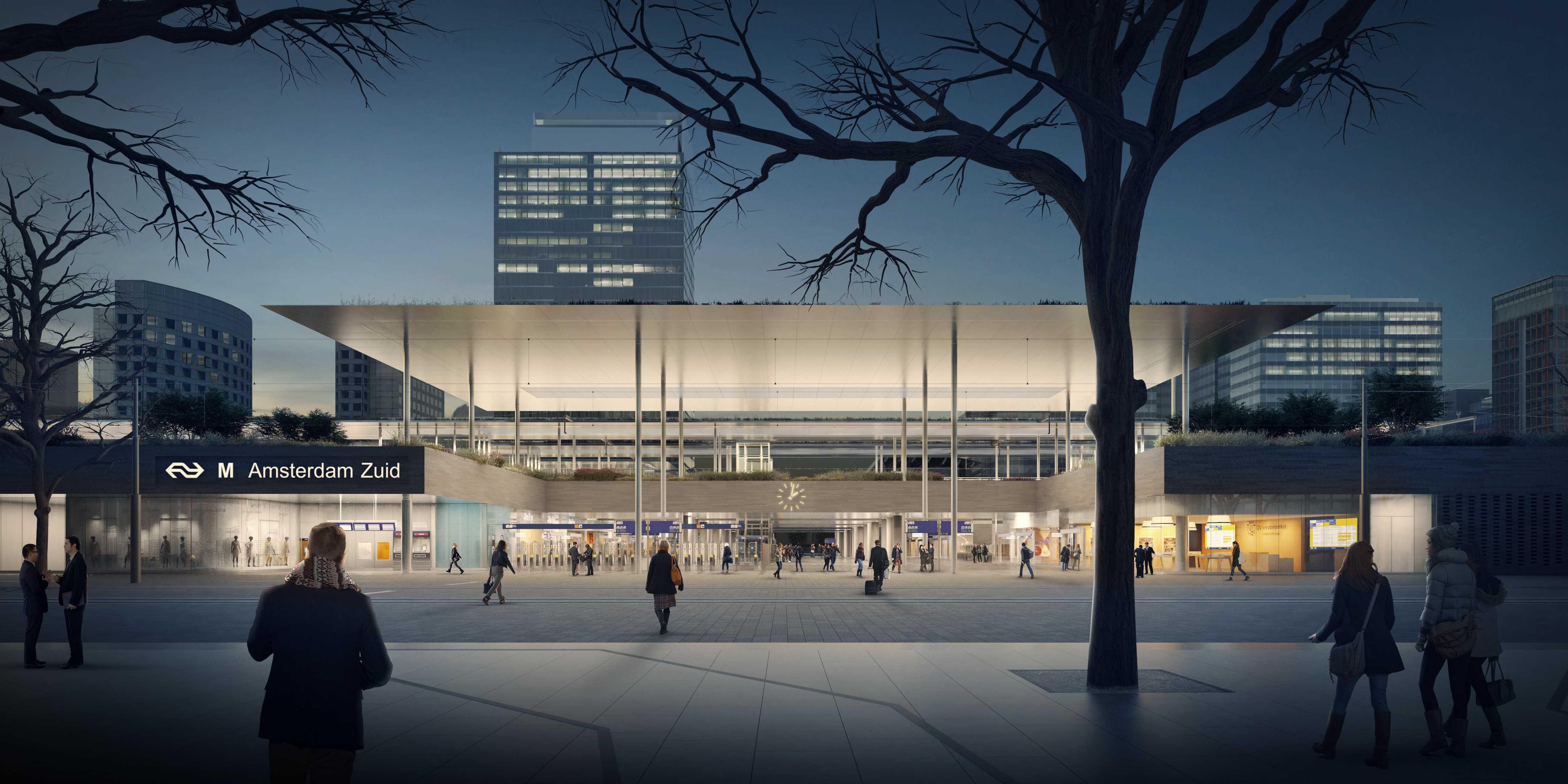 <p>Zuidasdok, ontworpen door ZuidPlus Architects – een samenwerking tussen Team V Architectuur, ZJA Zwarts & Jansma Architecten, Bosch Slabbers. Opdrachtgever: ZuidPlus – een consortium gevormd door Fluor, HOCHTIEF en Heijmans</p>