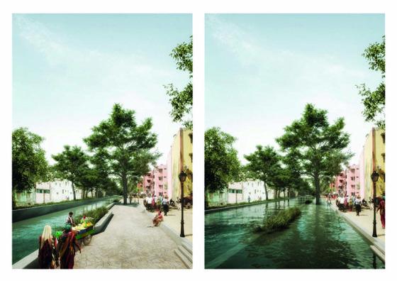Team Rise met o.a. Benthem Crouwel Architects ontwerpt ook in tweede fase aan Water as Leverage