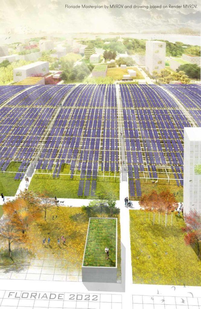 Zonnepanelen Floriade. beeld 70F en MVRDV