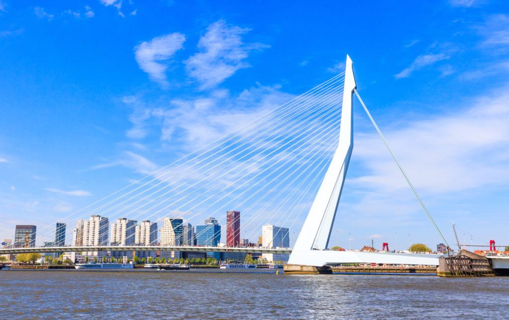 Erasmusbrug Rotterdam, beeld Shutterstock