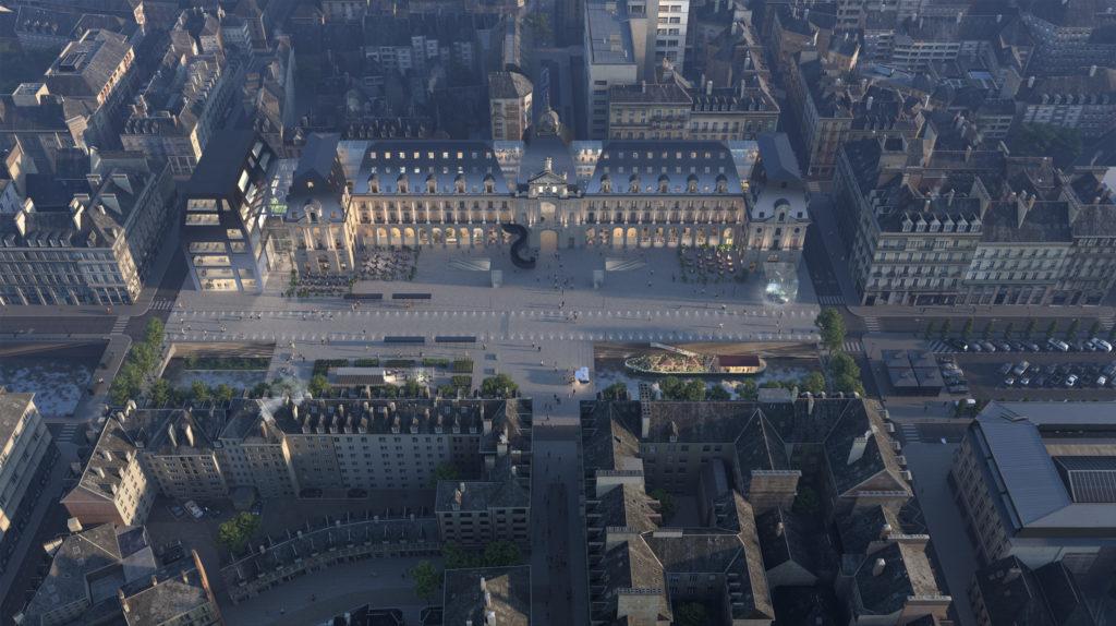 Transformatie Palais du Commerce in Rennes door MVRDV, beeld ENGRAM