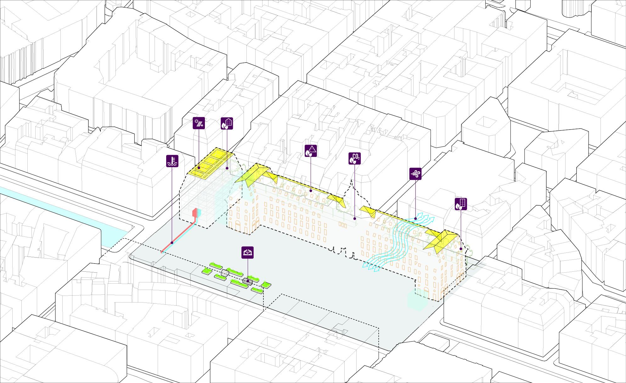 <p>Transformatie Palais du Commerce in Rennes door MVRDV, beeld MVRDV</p>