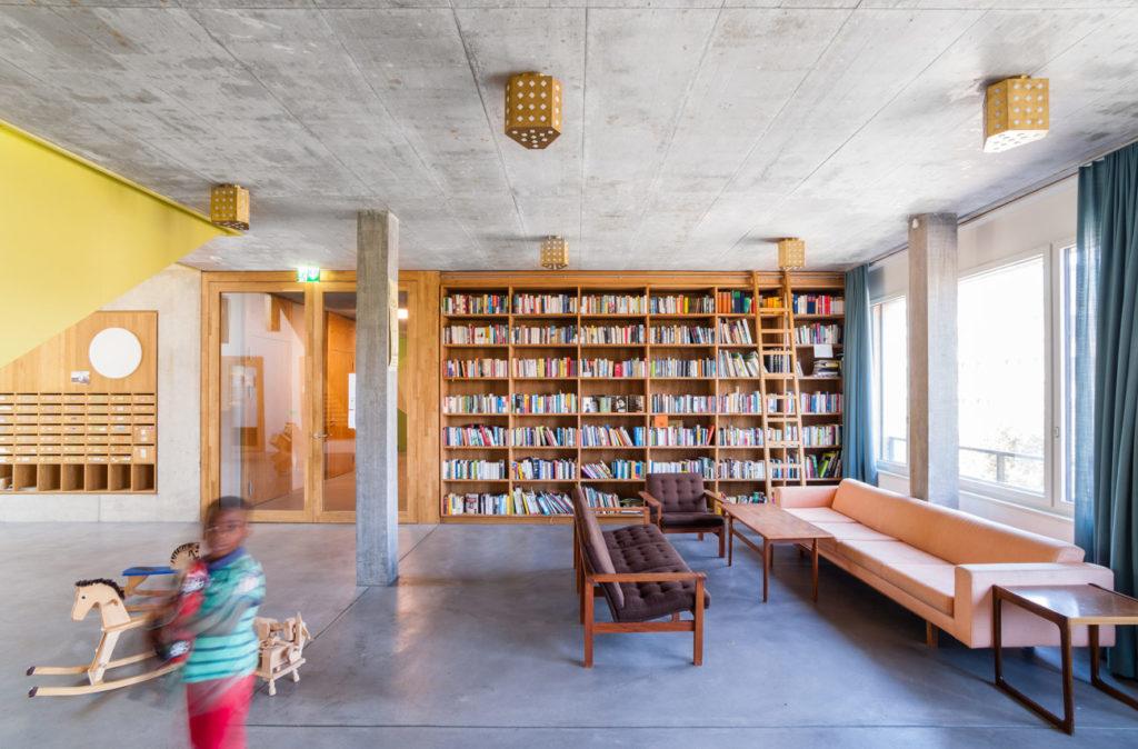 Kalkbreite Zürich door Müller Sigrist Architekten, beeld Genossenschaft Kalkbreite, Volker Schopp