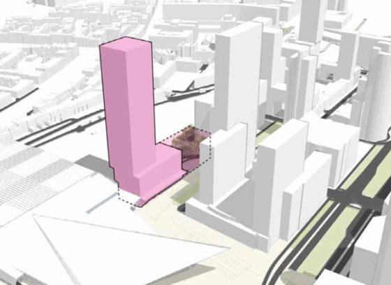 Rotterdam schrijft tender uit voor 140 meter hoge woon/werktoren naast Centraal Station