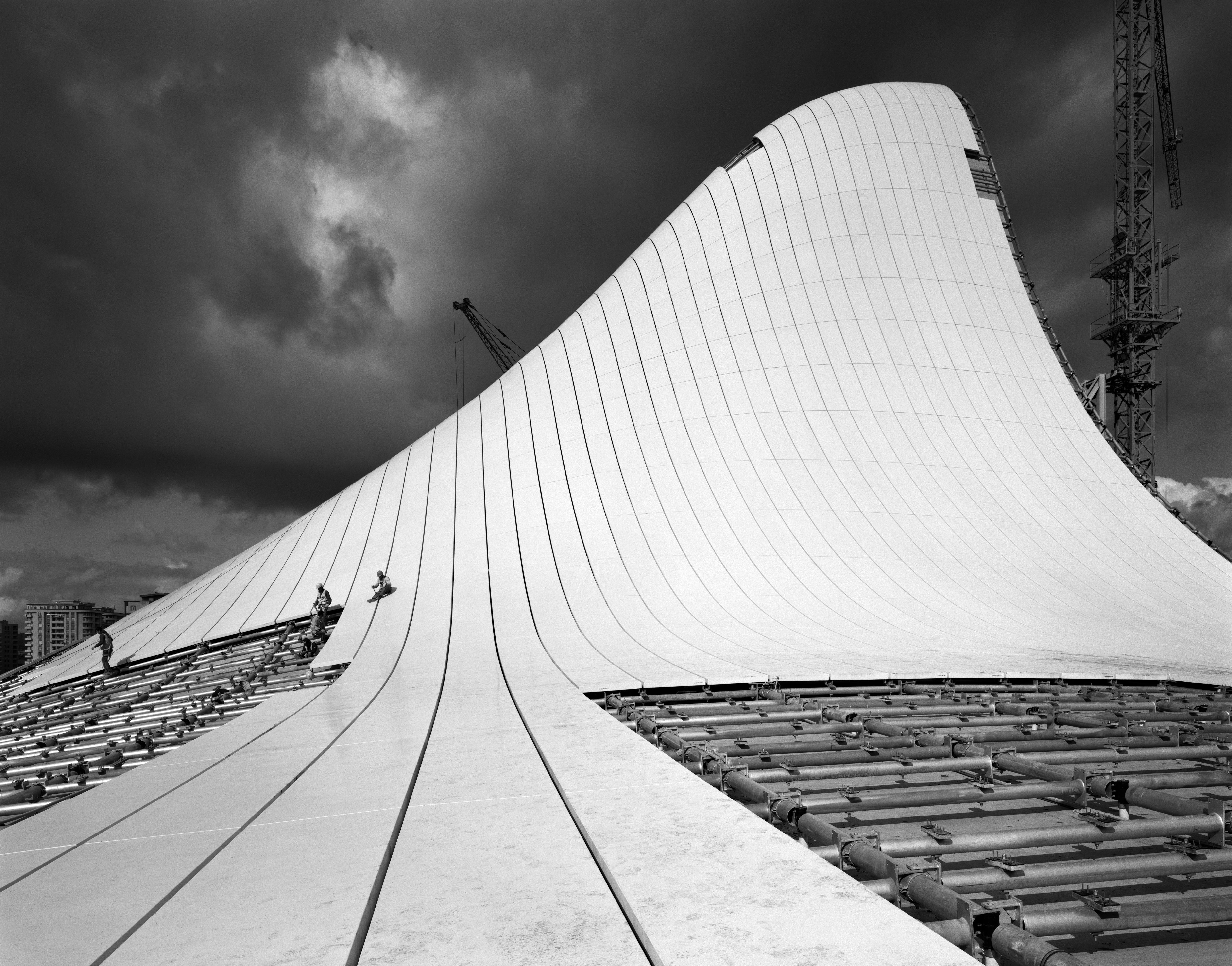 <p>Zaha Hadid Heydar Aliyev Centre. Constructielocatie Baku, Azerbaijan. Courtesy of Ammann Gallery. Beeld: Hélène Binet</p>