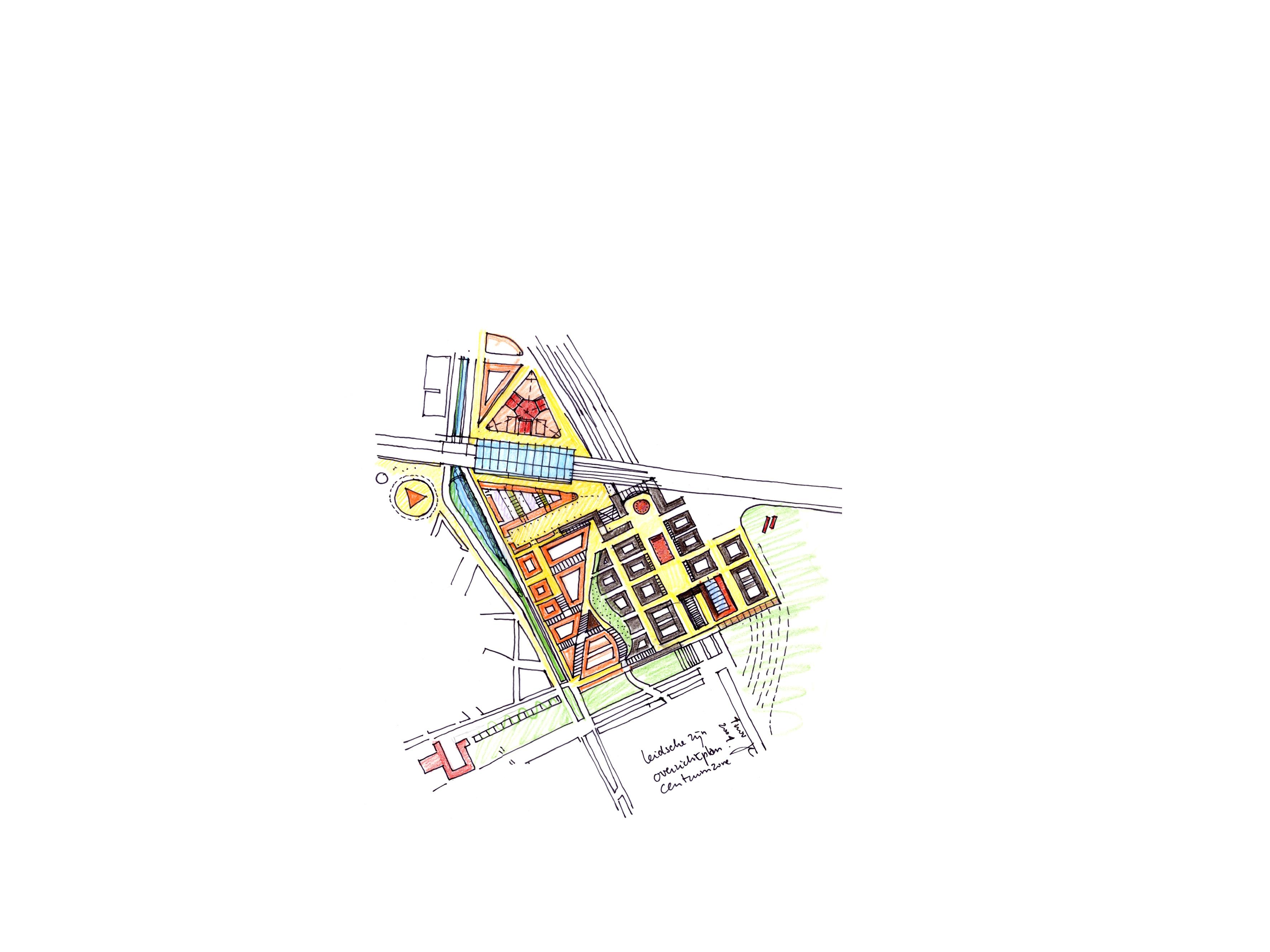 <p>Schets van Leidsche Rijn Centrum door Jo Coenen</p>
