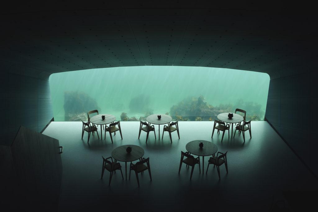 Restaurant 'Under' in Lindesnes Noorwegen door Snøhetta, beeld Ivar Kvaal