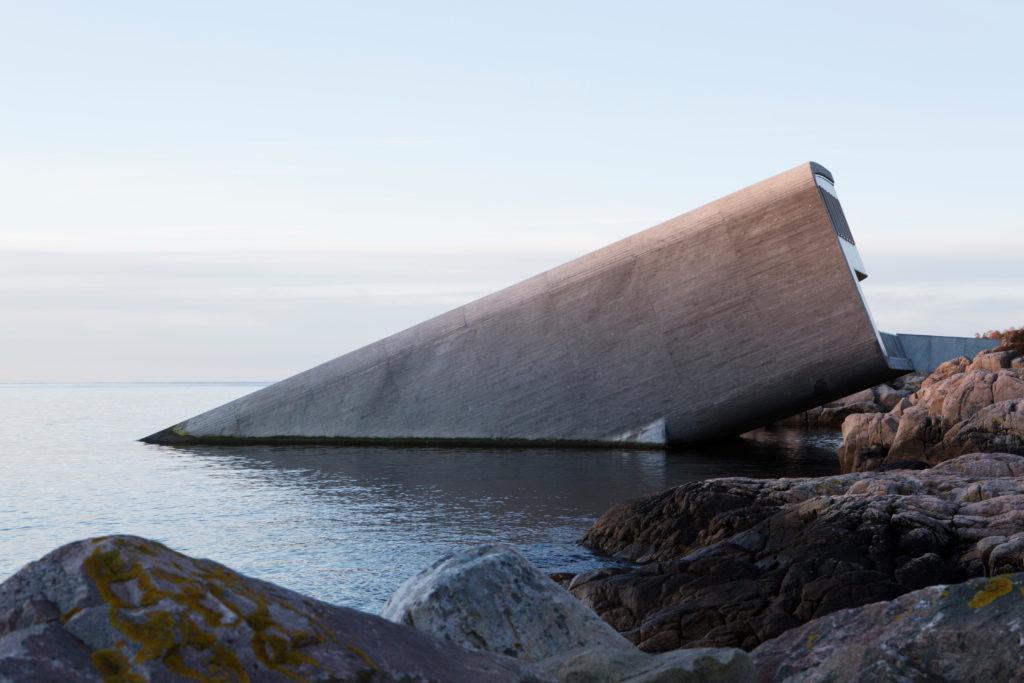 Restaurant 'Under' in Lindesnes Noorwegen door Snøhetta, beeld Inger Marie Grini/Bo Bedre Norge