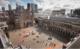 Binnenhof aangekondigd vertrek het binnenhof vanaf mauritstoren links gebouwen eerste kamer midden binnenhof en rechts gebouwen tweede kamer 80x49