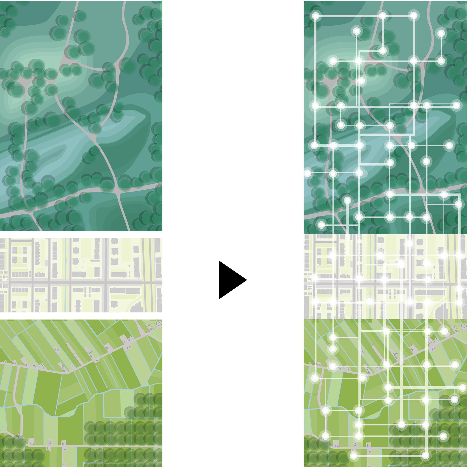 <p>Historische Layout voor een Toekomstig Landschap – Het huidige landschap rondom Brandevoort is historisch gegroeid, tot een rijke mozaïek van bossen, heidevelden, dorpen en waterrijke gebieden. Ze functioneren als individuele werelden binnen een samengestelde landschap, maar missen de kans om die diversiteit te benutten in een samenwerkende omgeving. Brainport Smart District wil daarom een nieuw hybride landschap genereren dat stedelijke, natuur- en landbouwgronden verbindt. Felixx ontwikkelde 4 ruimtelijke kaders om dit landschap van de toekomst te organiseren.</p>