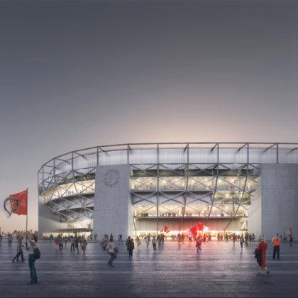 Nieuw Feyenoordstadion krijgt een vast dak