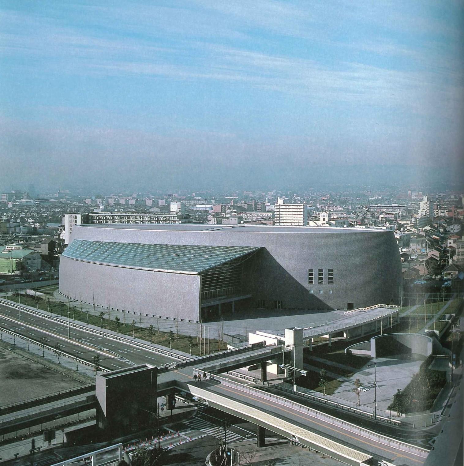 <p>Nara Centennial Hall in Japan door Arata Isozaki, beeld Hisao Suzuki</p>