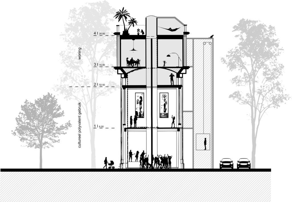Nieuwe invulling Watertoren Bree door Kanaal Zuid architectenbureau