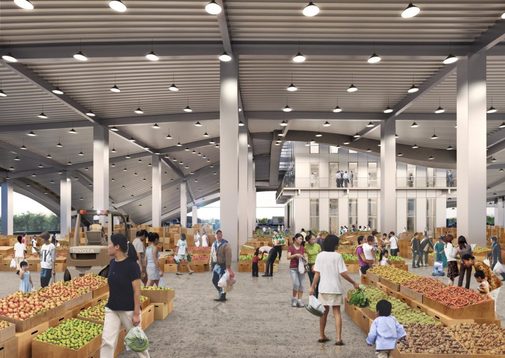 Xinhua Fruit and Vegetable Market door MVRDV
