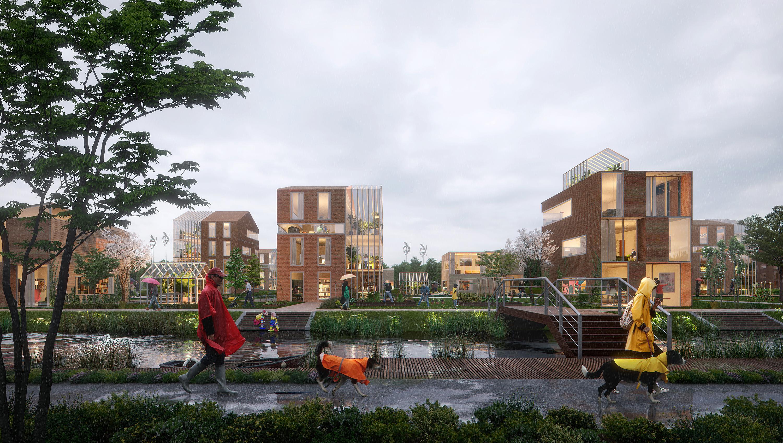 <p>Brainport Smart District in Helmond door UNStudio enFelixx, beeld BSD Landscape Vision</p>
