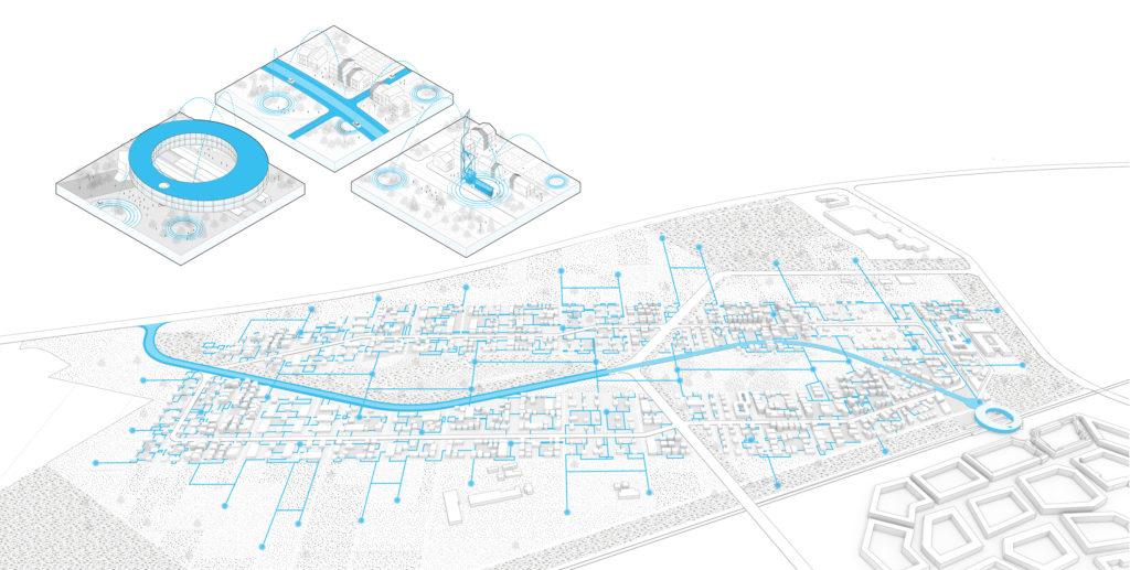 Brainport Smart District in Helmond door UNStudio enFelixx, beeld UNStudio en BSD Landscape Vision