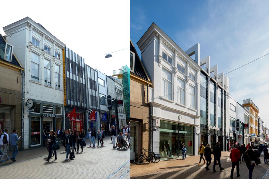 <p>Voor en na de winkeltransformatie</p>