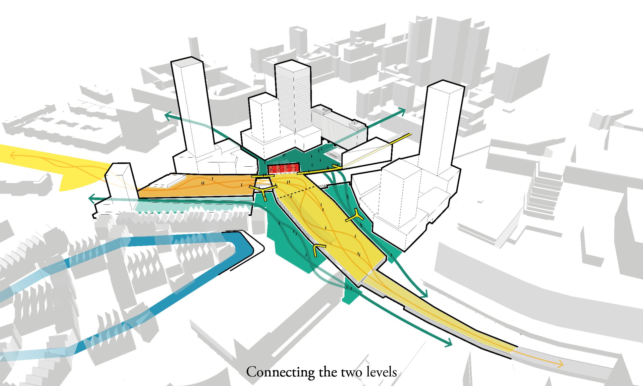 <p>Stedelijke connecties tussen Pompemburg en omliggende wijken</p>