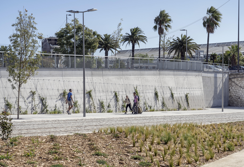 <p>De vegetatie vormt straks een weelderig bladerdak dat voetgangers beschermt tegen felle zon. Beeld Aldo Amoretti</p>