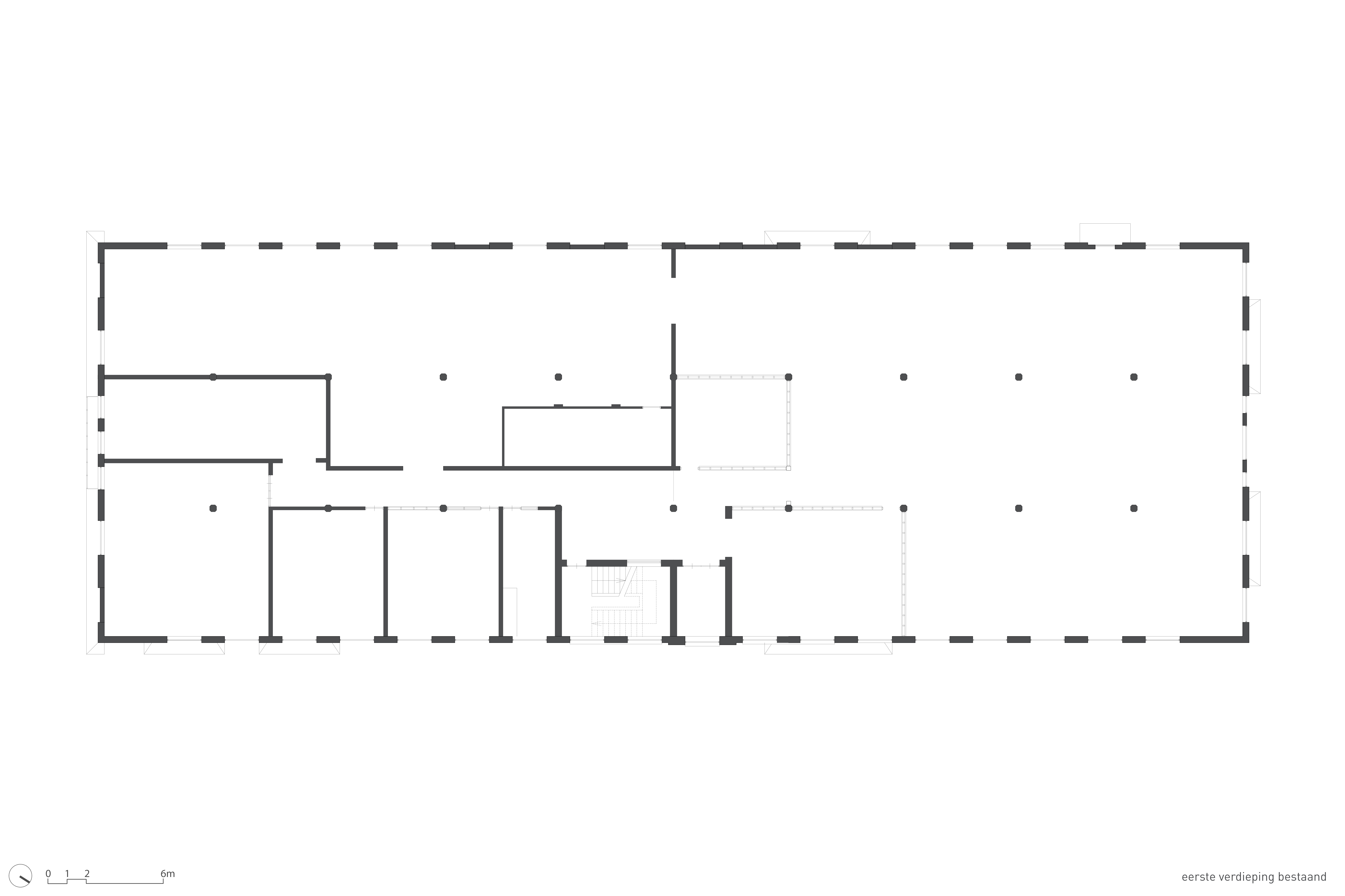 <p>Plattegrond 1e verdieping bestaand</p>