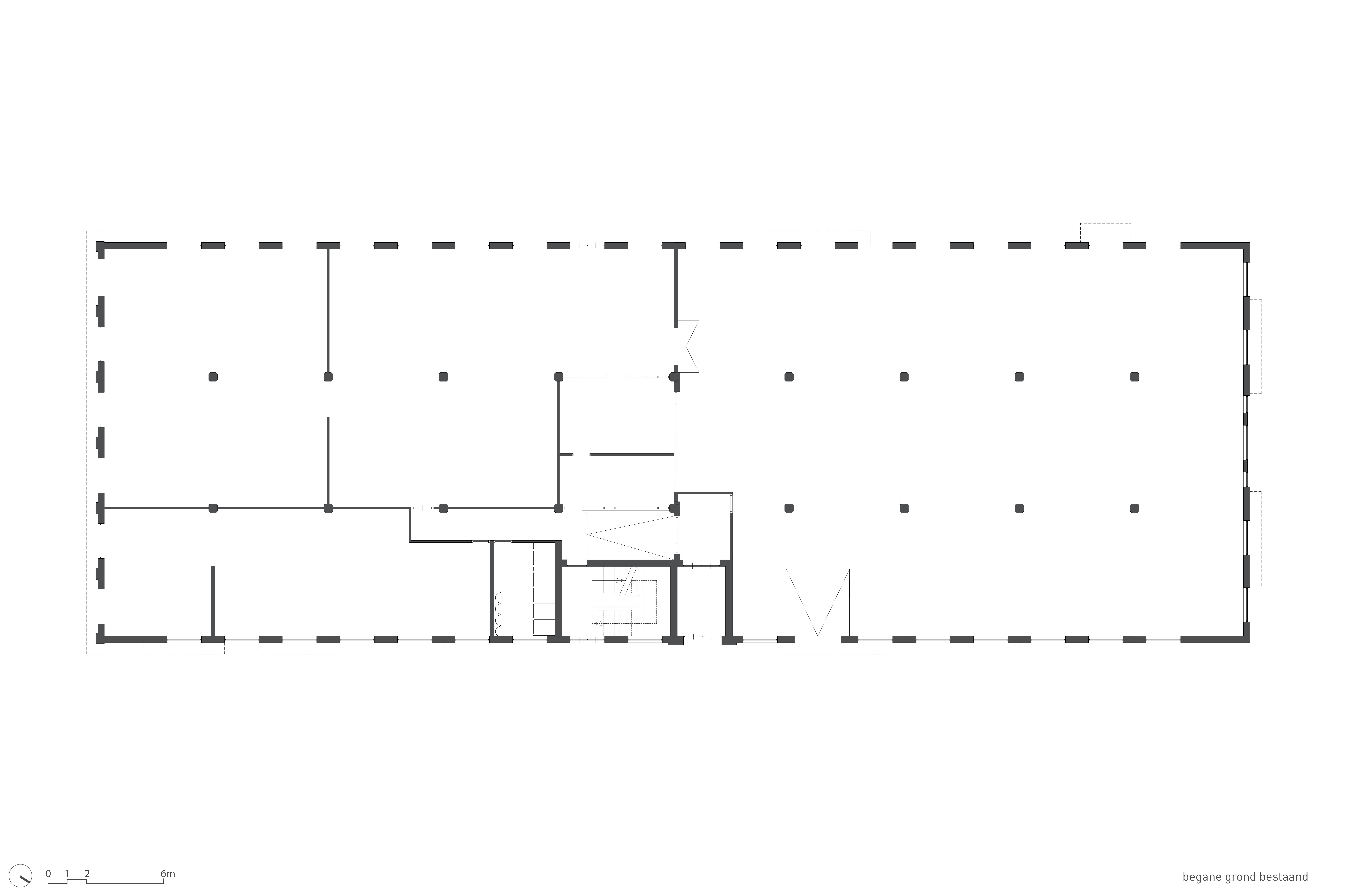 <p>Plattegrond begane grond bestaande bouw</p>