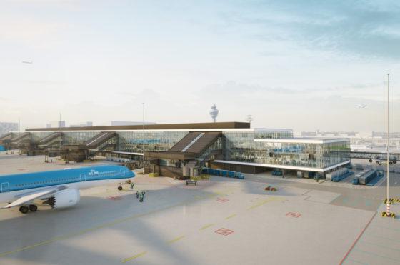 Bouw nieuwe pier Schiphol vordert