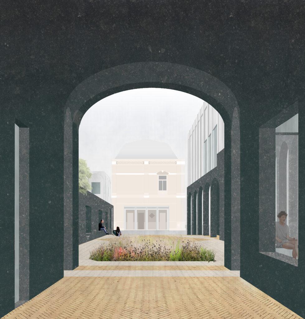 Structuurontwerp 'Dialoog tussen Ruimte en Verbeelding' voor Kunstwerf Groningen door Ard de Vries en Donna van Milligen Bielke