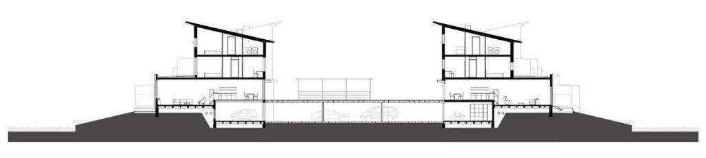 Doorsnede Nieuw Terbregge in Rotterdam door Mecanoo architecten