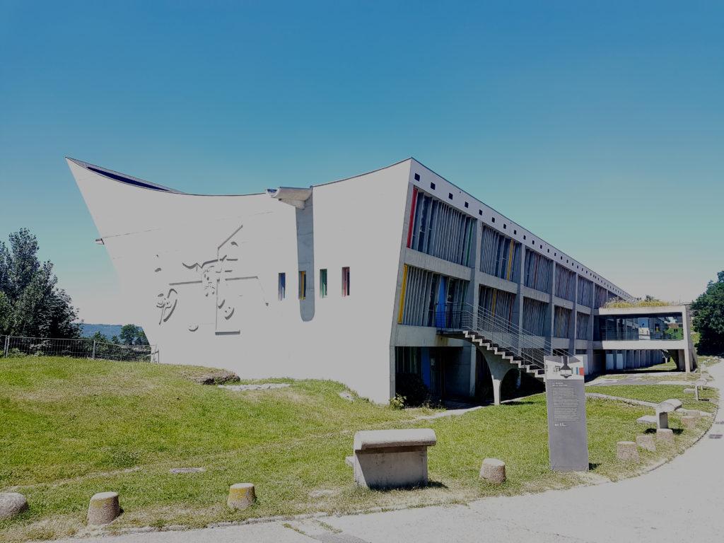 Cultureel centrum in Firminy door Le Corbusier, beeld Misak Terzibasiyan