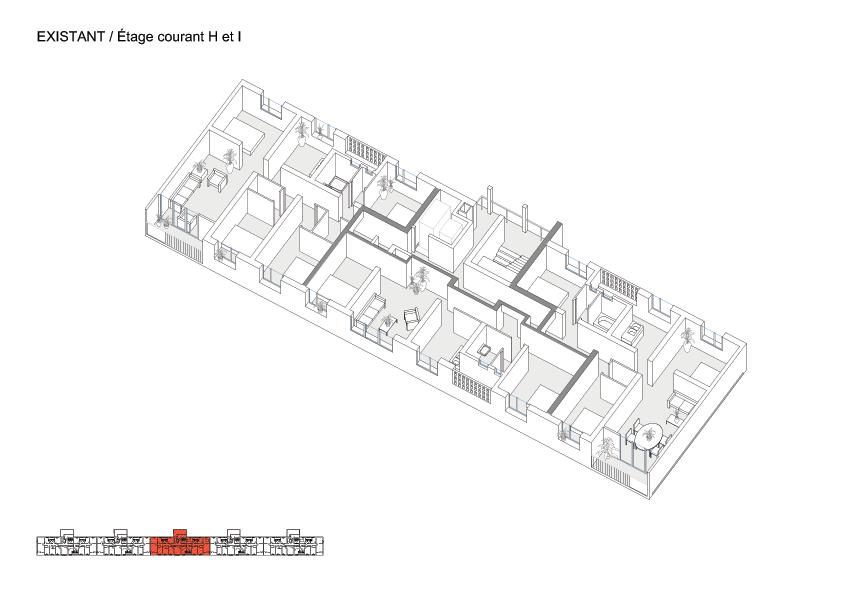<p>Transformatie van 530 woningen in Grand Parc Bordeaux door Lacaton &#038; Vassal architectes, Frédéric Druot Architecture en Christophe Hutin Architecture</p>