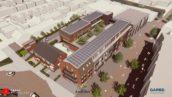 Winkels en woningen op locatie V&D-pand in Alphen aan den Rijn
