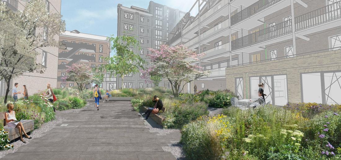 <p>Studio Stadsgras heeft in samenwerking met Strategie Architecten en Buro Poelmanreesink de daktuin en dakterrassen ontworpen voor het 320 appartementen tellende woningbouwproject &#8216;De Tijdgeest&#8217;. Beeld: Studio Stadsgras</p>