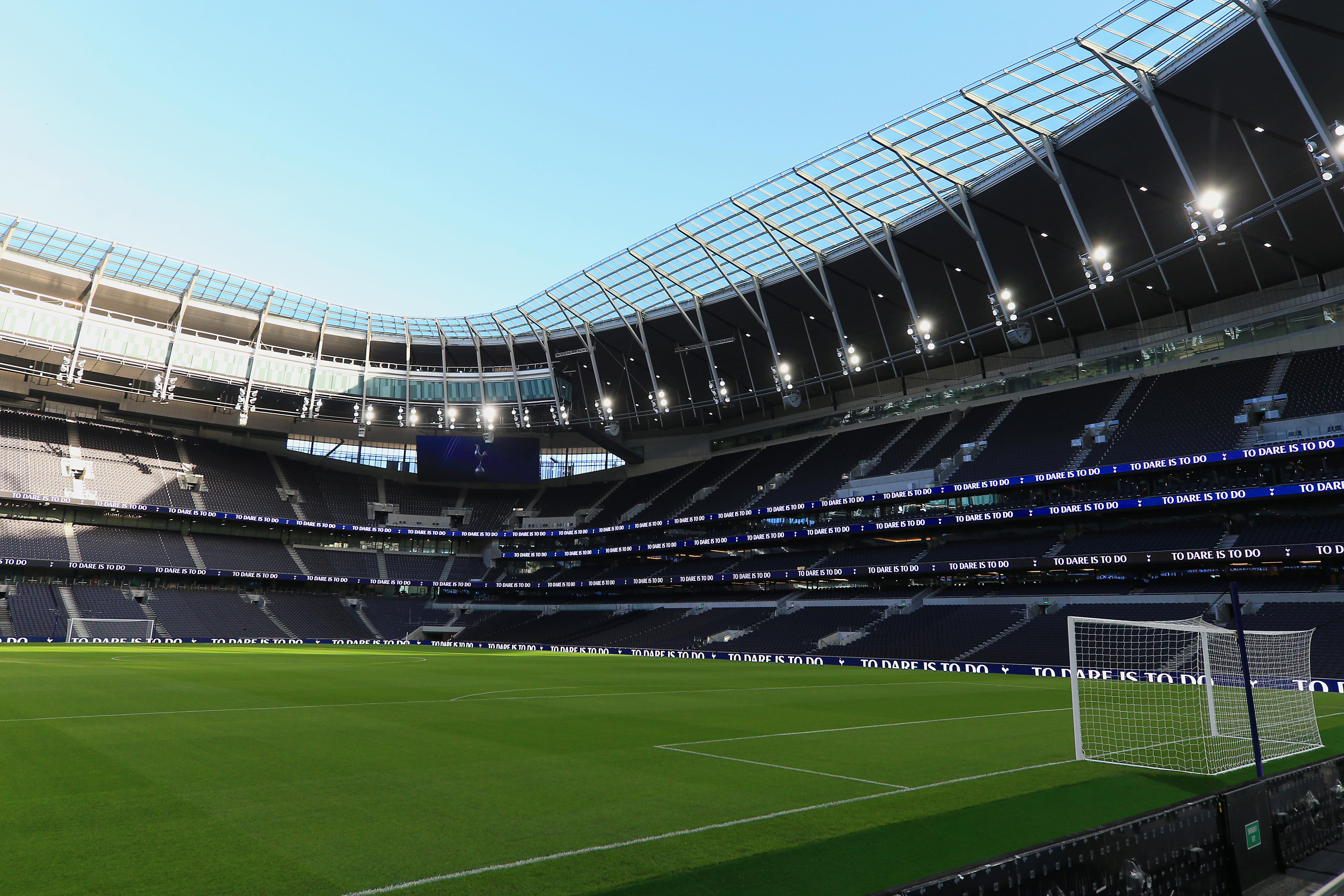 <p>A general view of inside the new stadium during the Tottenham Hotspur New Stadium Fan Event on December 15, 2018 in  London,United Kingdom. (Photo by Tottenham Hotspur FC/Tottenham Hotspur FC via Getty Images)</p>