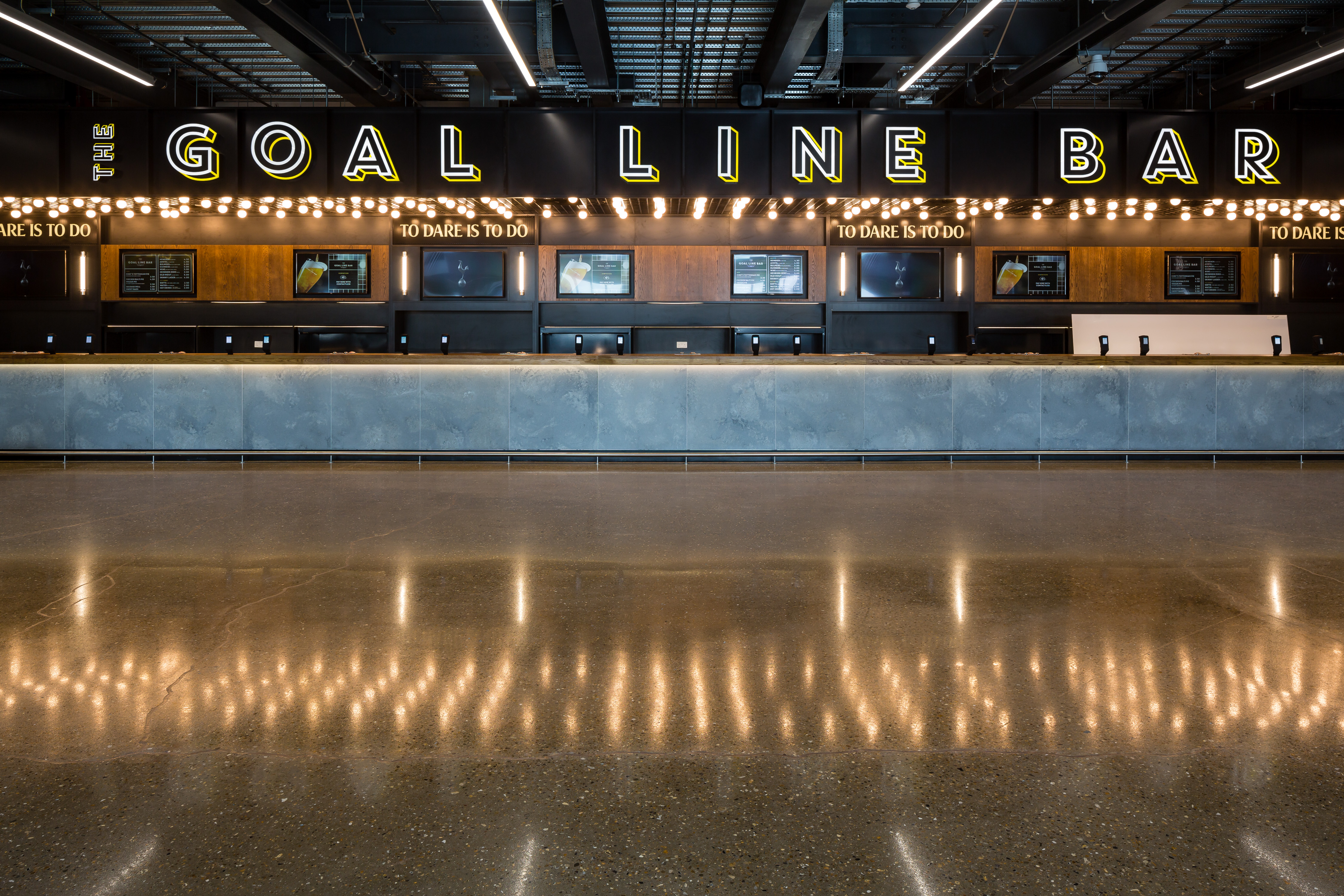 <p>A general view of the bar of the new Tottenham Hotspur Stadium  on March 5, 2019 in London, England. (Photo by Tottenham Hotspur FC/Tottenham Hotspur FC via Getty Images)</p>