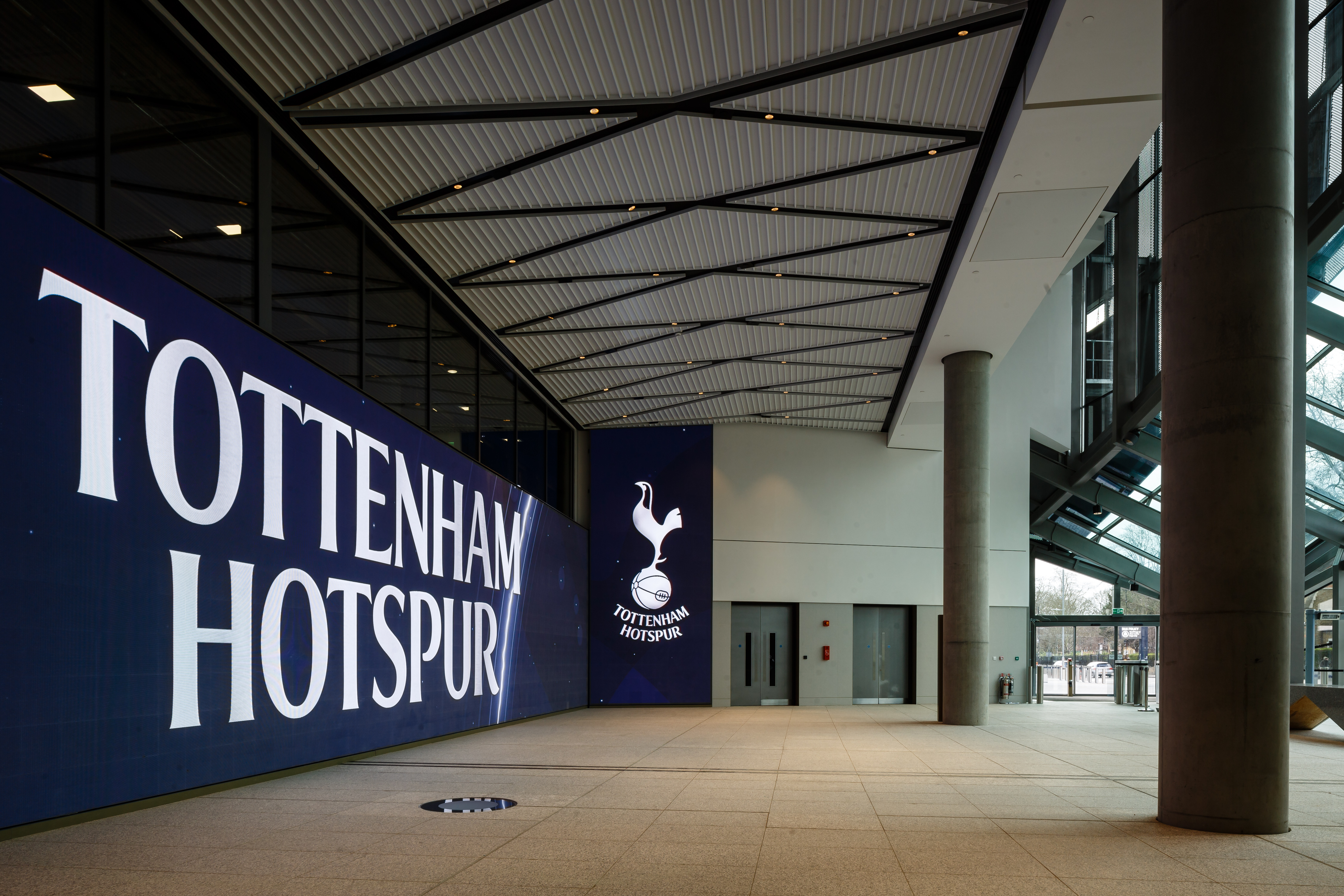 <p> A general view of the exterior of the new Tottenham Hotspur Stadium  on March 13, 2019 in London, England. (Photo by Tottenham Hotspur FC/Tottenham Hotspur FC via Getty Images)</p>
