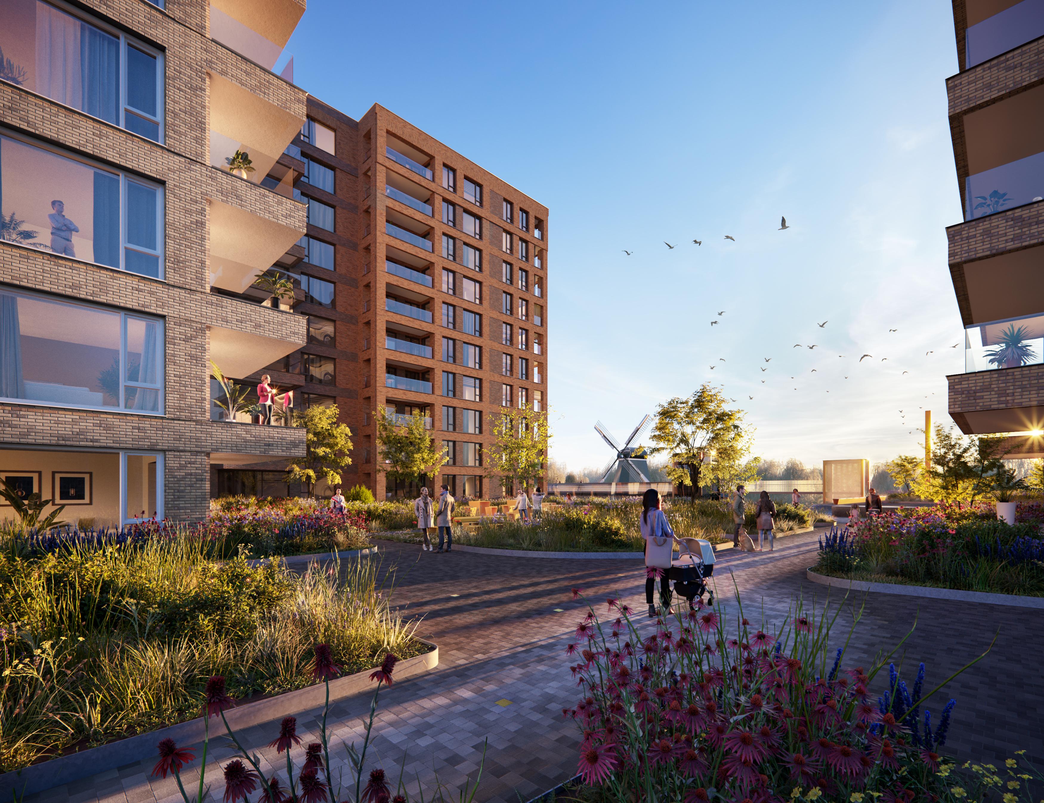 <p>Zaanse Helden, Zaans Hout, Zaanstad een ontwerp van Havermans Hielkema Architecten</p>