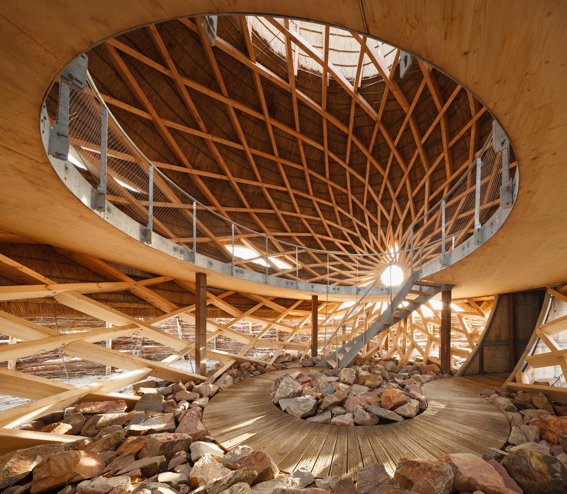 <p>Vogelobservatorium &#8216;T IJ<br /> ontwerp RO&amp;AD architecten en RAU met houten Zollinger-constructie</p>