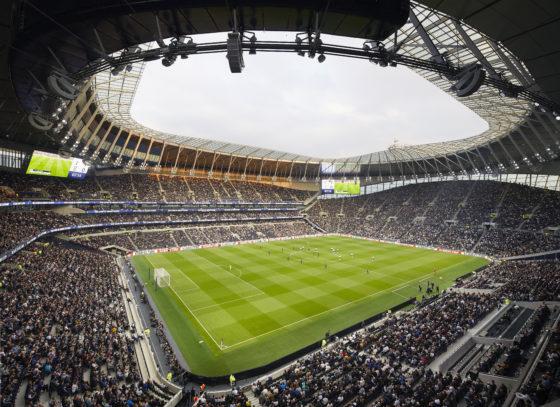 Stadion Tottenham Hotspur in gebruik