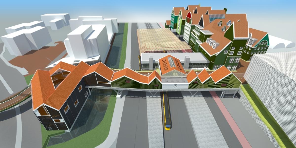 <p>Spooroverbouwing Stationsgebied Zaanstad door Nunc Architecten</p>