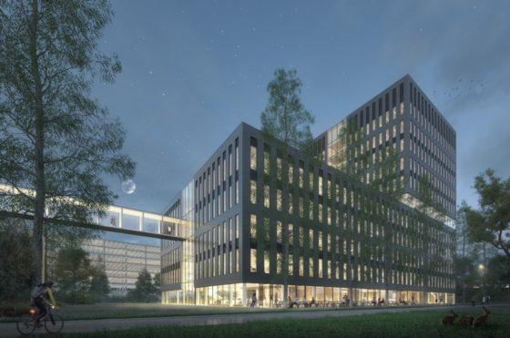 Multi-tenant gebouw The Accelerator op Utrecht Science Park