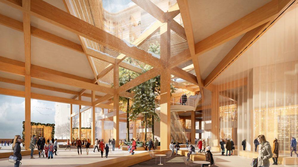 Slimme houten stad – Sidewalk Labs in Toronto (CA) door Snøhetta en Heatherwick Studio